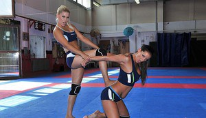 Seductive MILFs are into rough lesbian action in the squared ring