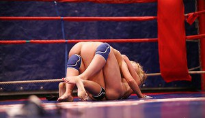 Nikky Thorne & Nataly Von clashing in the ring for lesbian catfight
