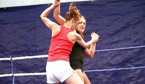 Valentina Chevallier wins a catfight and fucks her opponent by a strapon