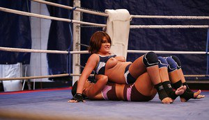 Rough catfight turns into hot lesbian action with a strapon