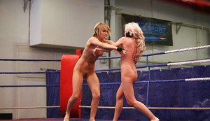 Lusty babe Aleska Diamond wins a catfight and fucks loser with a strapon