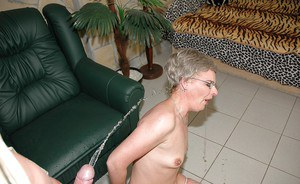 Lascivious mature lady in glasses gets her twat fucked by toy and stiff cock