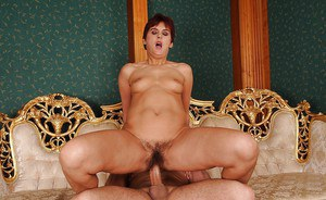 Mature lady gets her pussy fingered and stretched with a meaty boner