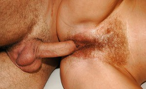 Stunning mature blonde with unshaven armpits gets her hairy vag drilled