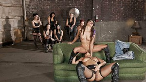 Celeste Star & Brianna Jordan are into hot lesbian action with a strapon
