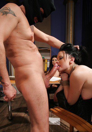 BDSM babes gets tortured and banged while their friend watching