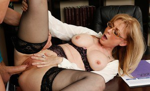 Horny mature teacher Nina Hartley gets her pussy licked and fucked