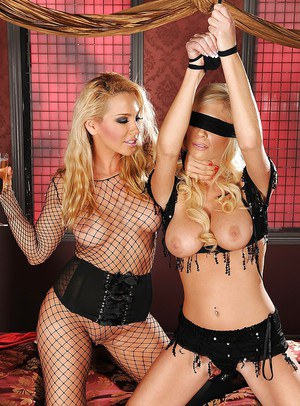 Stunning blonde pornstars are into sensual lesbian action