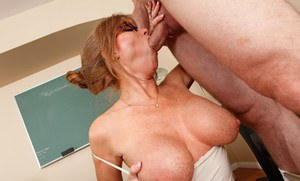 Lusty mature teacher Darla Crane gets her cunt drilled hardcore