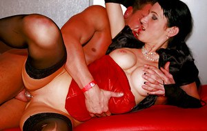 Lascivious babes are into hardcore orgy at the drunk party