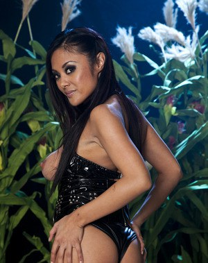 Stunning asian MILF Kaylani Lei uncovering her tempting curves