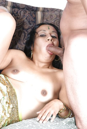 Slutty indian babe gets her hairy cunt slammed hardcore and creampied