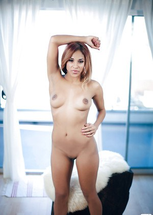 Foxy latina babe with hot ass Naj'a Irie uncovering her fuckable body