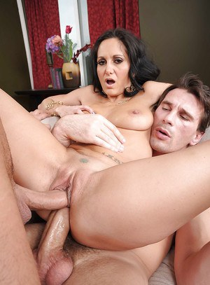 Hot MILF with big round tits Ava Addams gets double penetrated