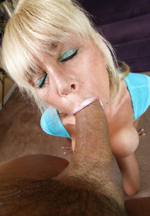 Skinny Blonde Mature Riding