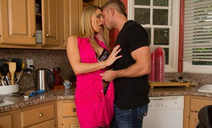Busty MILF in stockings and lingerie Tanya Tate gets bonked hardcore