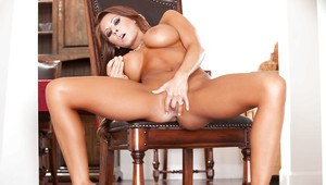 Stupendous babe Madison Ivy stripping and masturbating her cunt