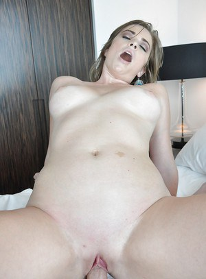 Lusty babe Sierra Miller gets her shaved pussy drilled hardcore