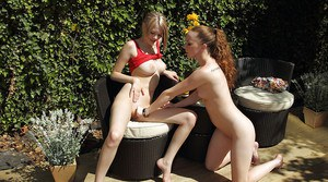 Seductive amateur babe discovering fisting pleasures with her lesbian friend