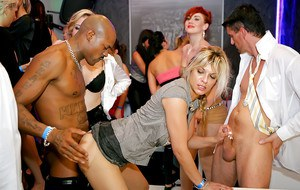 Cock hungry babes get fucked hardcore at the drunk sex party