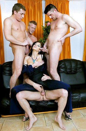 Classy female Crystalis is always up for hard sex and a gangbang