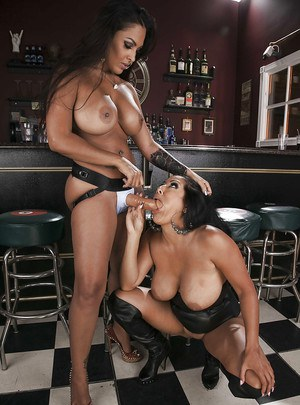 Curvaceous latina gals are into hot lesbian action with strapon