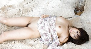 Tempting asian babe Aya Hirai uncovering her gorgeous body outdoor