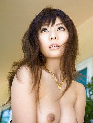 Sexy asian coed Aya Hirai stripping off her dress and lingerie