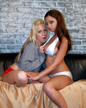Lusty teens Eden Adams & Angel Cummings stripping and caressing each other