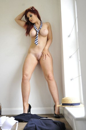 Curvy schoolgirl Jessica Rose stripping off her uniform and lingerie