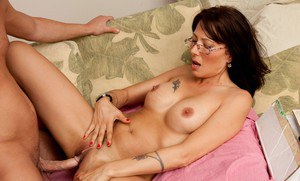 Big busted mature lady in glasses Zoey Holloway gets shagged hardcore