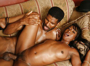 Slutty ebony MILF with ample ass Stacey Cash gets nailed hardcore