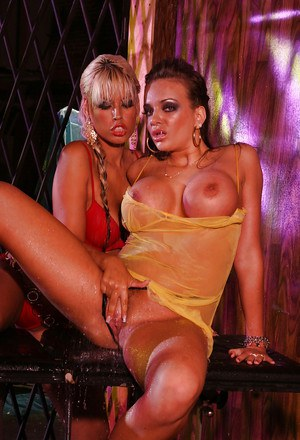 Busty vixen Nika Noir is into sensual lesbian action with her friend
