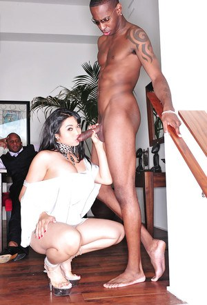 Slutty asian MILF Mika Tan gets blowbanged and slammed by big black cocks
