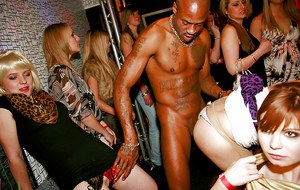 Sex starving amateurs going horny at the party with malestrippers