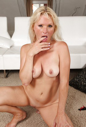 Busty blonde MILF Kathy Anderson gets anally drilled and facialized
