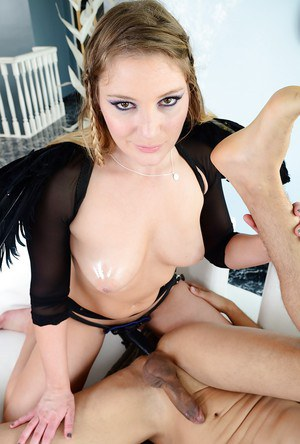 Aurora Snow is into hardcore strapon action with a naughty guy