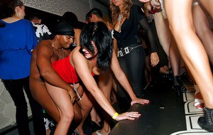 Raunchy drunk amateurs going wild and nasty at the club party