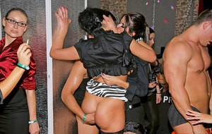 Big busted hotties getting banged hardcore at the party in the club