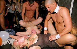 Jizz hungry sluts getting satisfied at the hardcore sex party