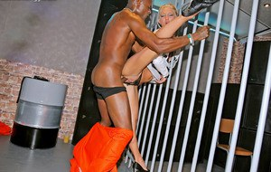 Slutty fully clothed fashionistas are into interracial drunk sex orgy