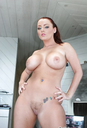 Curvaceous MILF Sophie Dee stripping and toying her juicy love holes