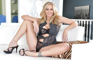 Tempting MILF Julia Ann slowly uncovering her gorgeous curves