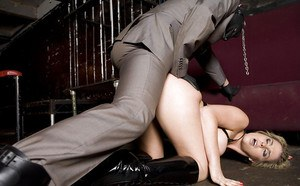 Hot fetish gals have a BDSM groupsex with well-hung masked guy