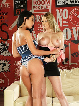 Busty Dana Weyron is into sensual lesbian sex with her friend