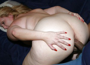 Lascivious fatty MILF has a groupsex with two horny guys