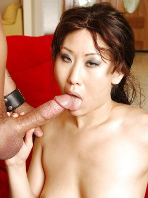 Vanity Lin gives a blowjob and gets her love holes drilled hardcore