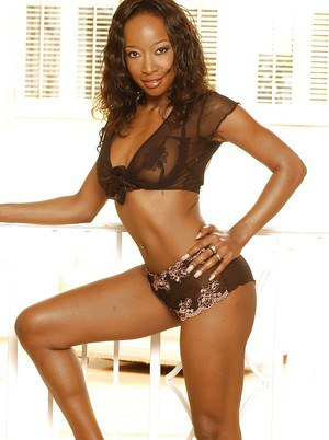 Seductive ebony gals showcasing their tempting bodies covered with lingeries