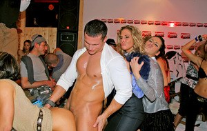 Lecherous european gals going wild and naughty at the hardcore sex party
