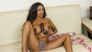 Filthy indian MILF with big jugs Priya Anjali Rai playing with a big dildo